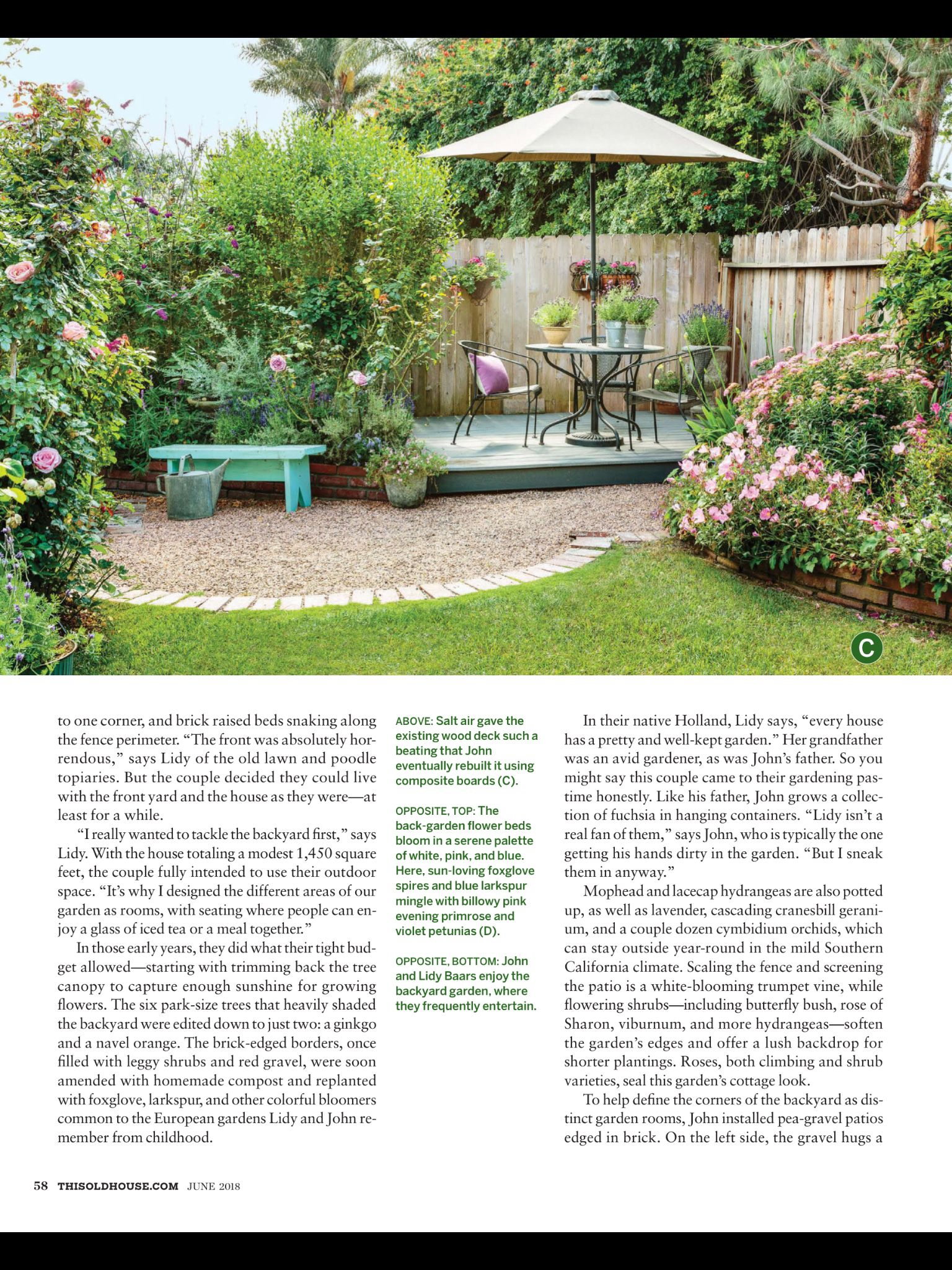 A World Away From This Old House June 2018 Read It On The Texture App Unlimited Access To 200 Top Magazines House Landscape Backyard Worlds Away