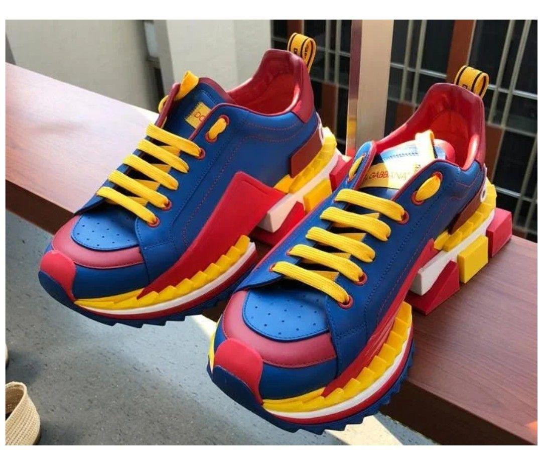 DOLCE & GABBANA Ledersneakers super King Schwarz Herren