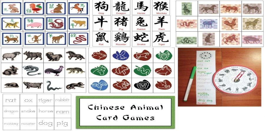 Chinese Animal Card Games Chinese new year activities