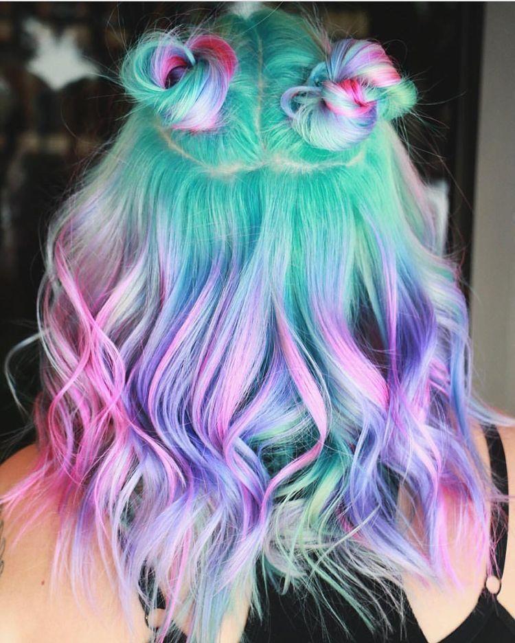 cabelo colorido hair in