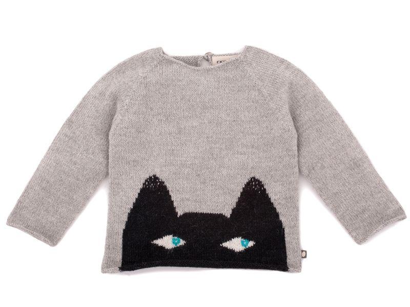 Oeuf NYC Cat Sweater In Light Grey   Scandinavian Minimall ...