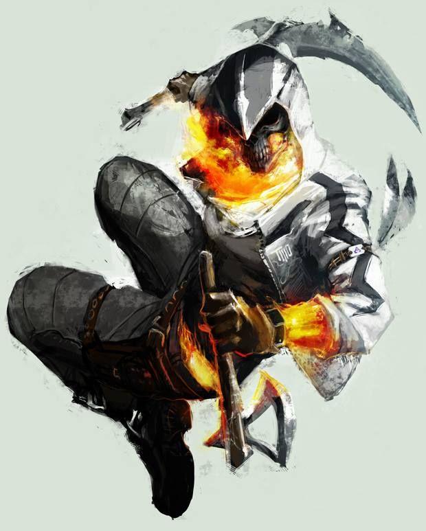 Ghost Rider Assassins Creed Crossover Ghost Assassin Dark