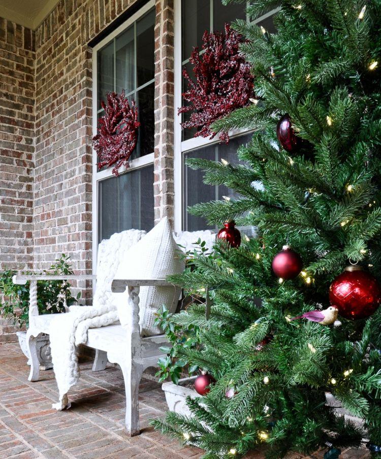 Weihnachtsdeko Im Außenbereich gartenbank weihnachtlich dekorieren - ideen für charmante