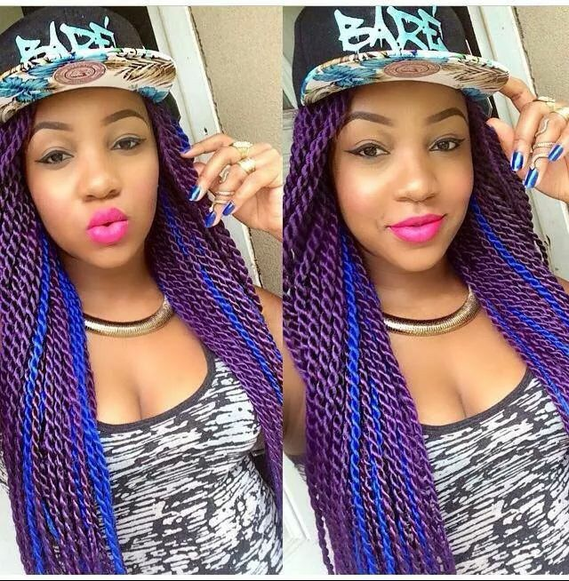 Purple and Blue Senegalese Twists.. | Hair stuff ...