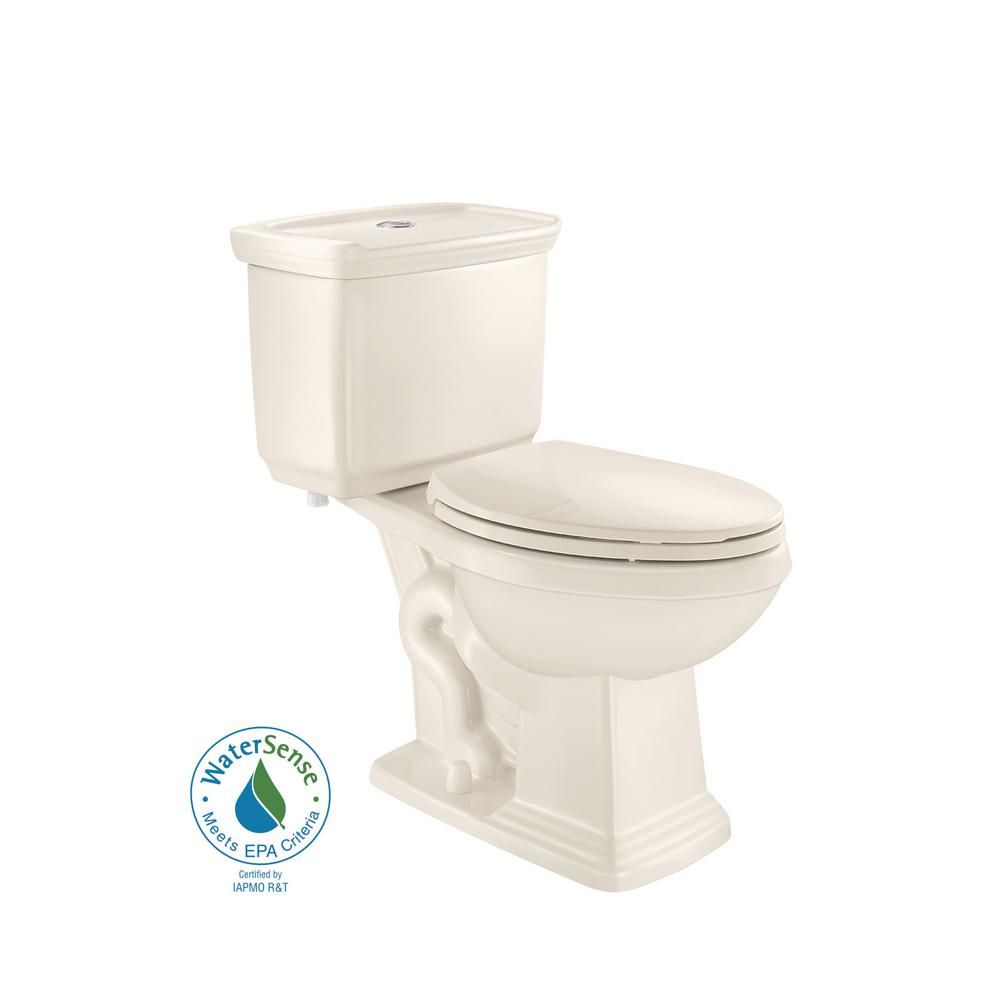 Glacier Bay 2 Piece 1 0 Gpf 1 28 Gpf High Efficiency Dual Flush Elongated Toilet In Biscuit Toilet Home Depot Toilet Bowl