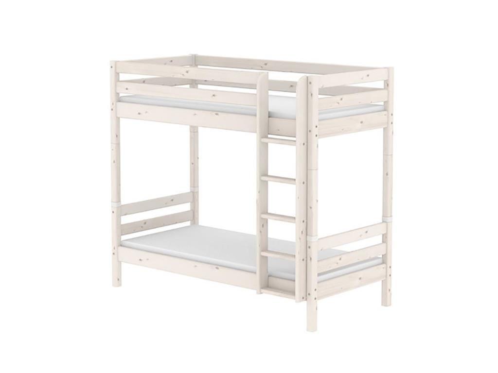 Flexa Etagenbett Leiter : Flexa classic etagenbett cm höhe gerade leiter weiß