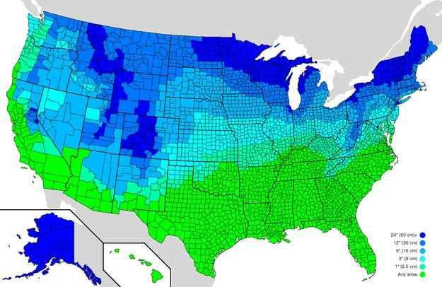 Goddamn it, infographics sure are pretty. Here's how much snow it takes to cancel school in the U.S.