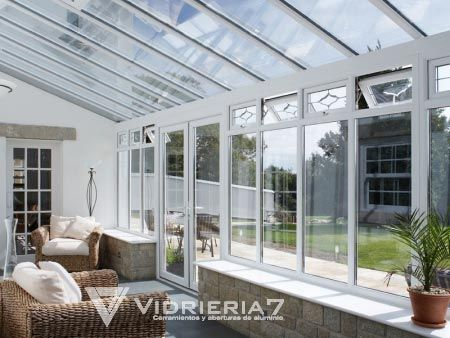 Fotos de galerias y cerramientos de aluminio y vidrio - Porches de aluminio y cristal ...
