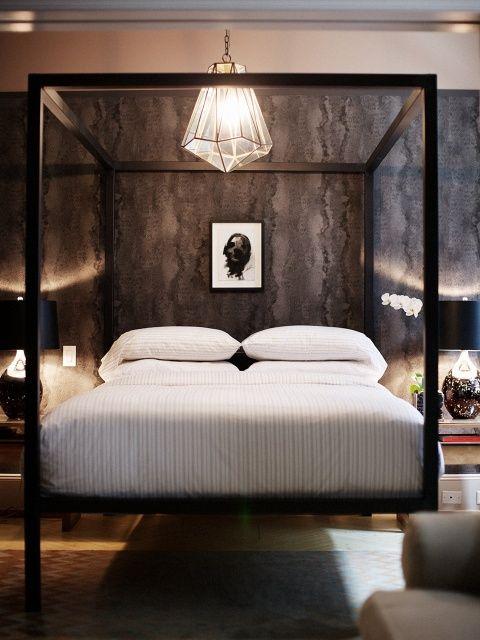 Dormitorio. Dosel negro | Decoracion Dormitorio | Pinterest | Camas ...