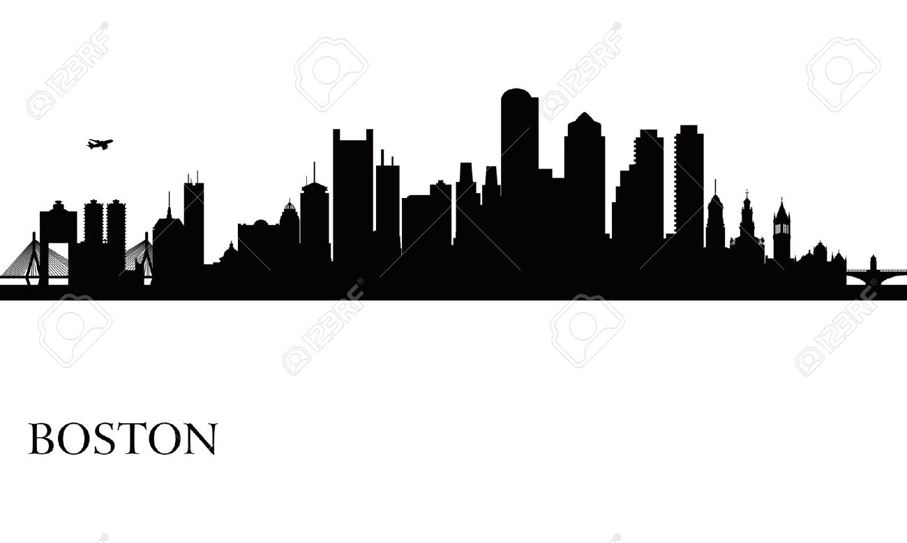 Stock Vector With Images City Skyline Silhouette Boston Skyline Skyline Silhouette