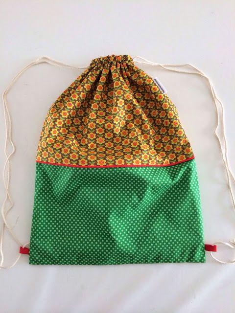 handmade mieke: Handleiding turnzak met scheiding binnenin | sewing ...