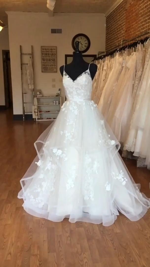 Romantic Layered Wedding Dress