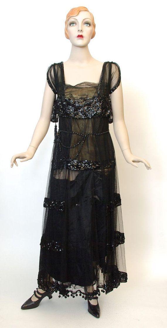 1917 Evening Dresses-inspiration for Madeleine\'s mourning evening ...
