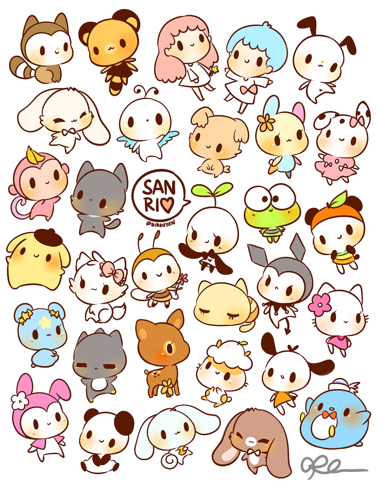 by birduyen sanrio stickers!! available in my shop