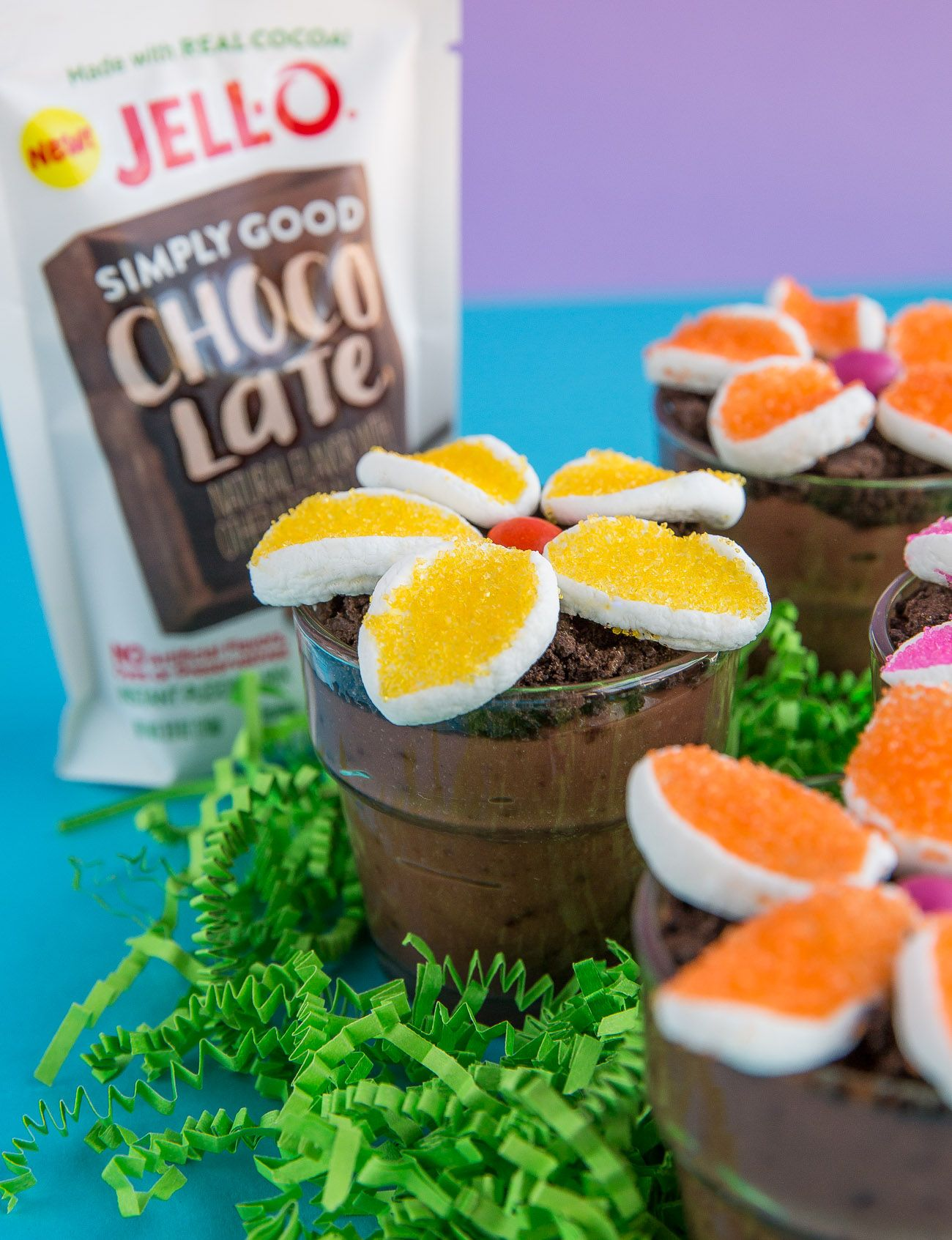 These quick and easy Flower Pot Pudding Dirt Cups are a