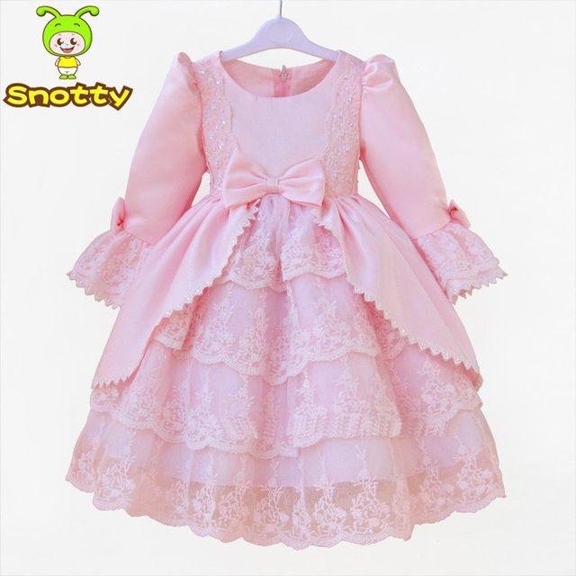 Patrones del vestido Formal para las niñas de color rosa occidental ...