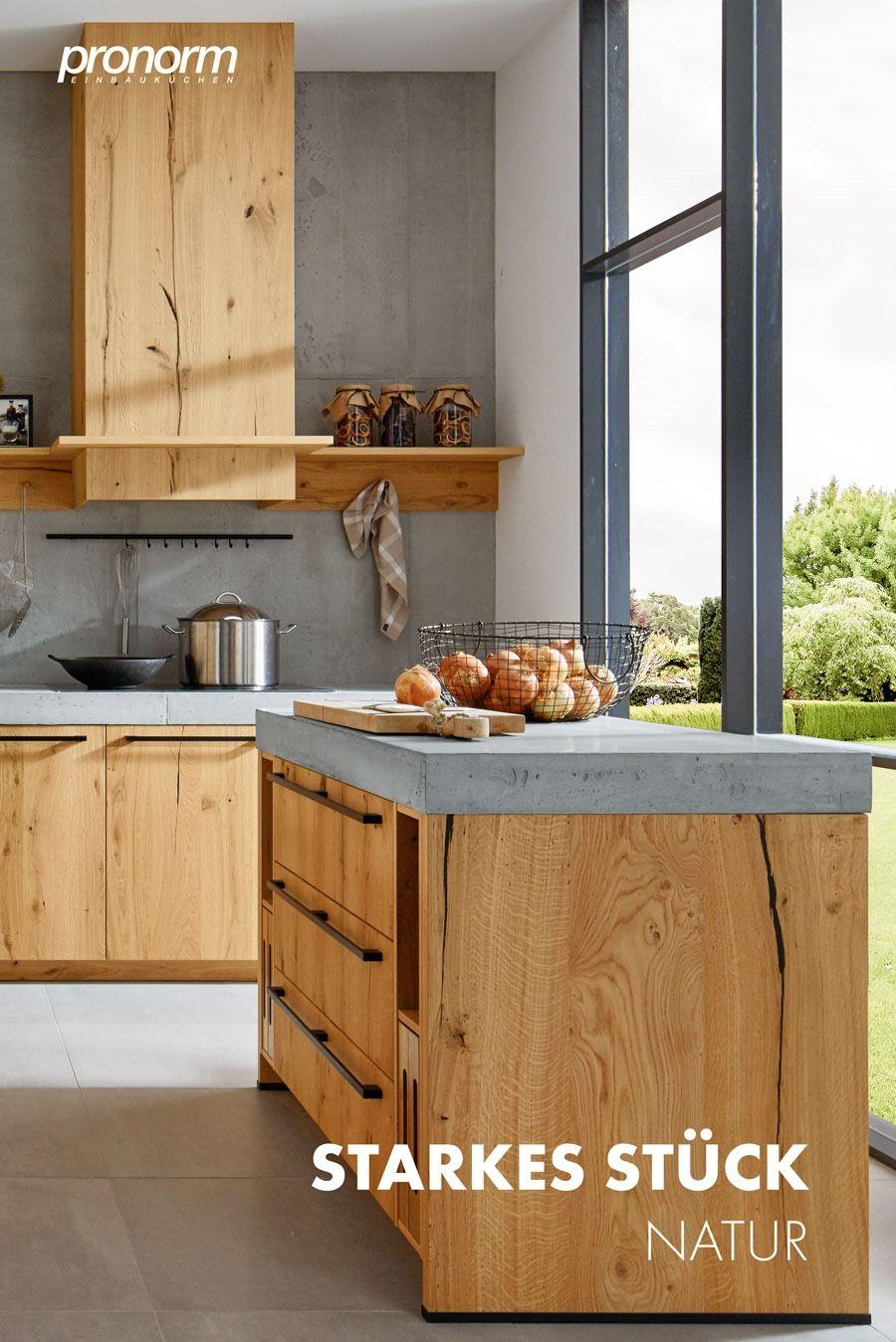 Moderne Holzkuche Mit Kochinsel Arbeitsplatte Kuche Kuche Beton Kuche Betonoptik