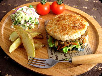Japanese rice burger