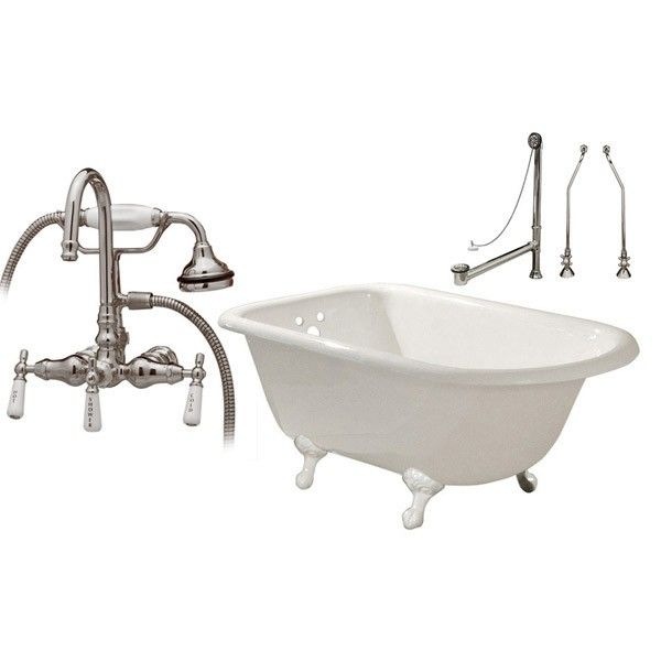 Heritage 60 Inch Cast Iron Classic Clawfoot Tub Package With