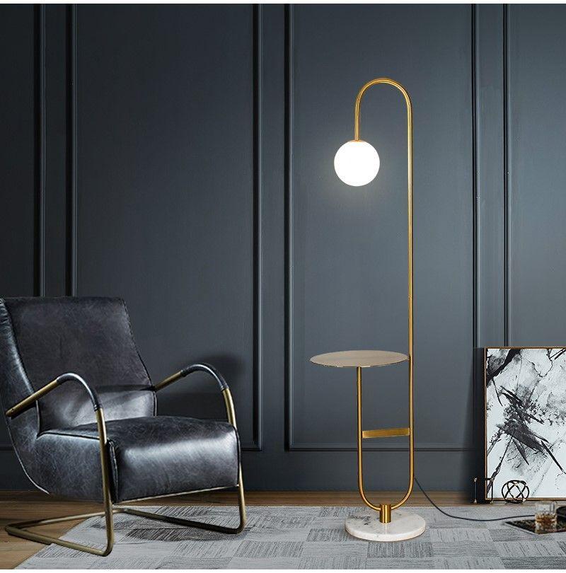 Modern Simple Living Room Floor Lamp Nordic Glass LED ...