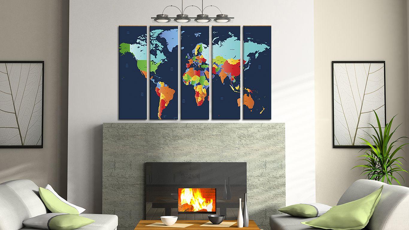 Large print world map world map wall panels canvas on wall large print world map world map wall panels canvas on wall countries of gumiabroncs Gallery