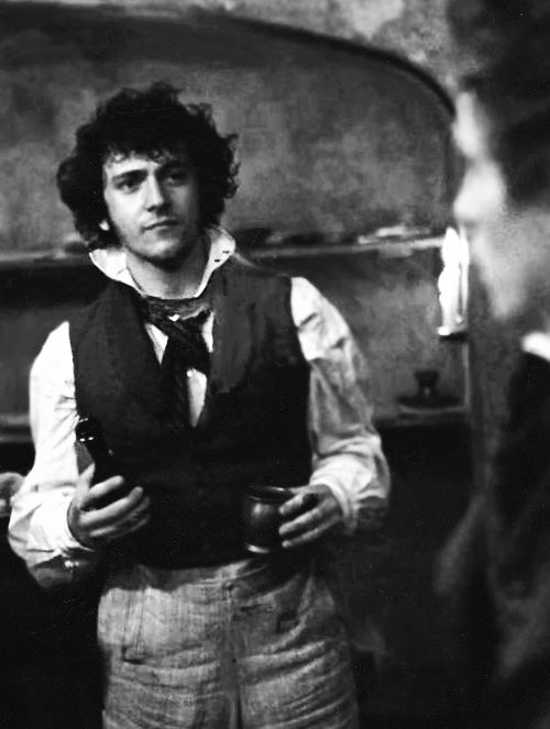 George Blagden - plays Grantaire in Les Mis. Who knew that ...  George Blagden Les Miserables Grantaire