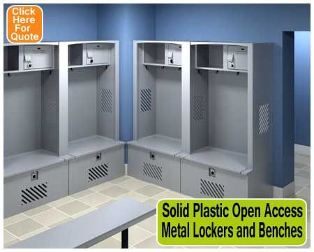 Solid Plastic Open Access Lockers Are Also Very Durable Our Gear Locker Line Which Is Available In Several Colors Gives Ample Storage And Comes With An