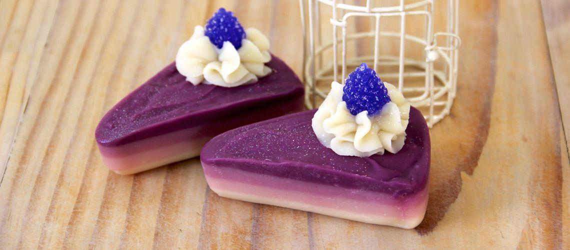 Indulge your shower with a piece of creamy wild berry cake soap, great for all skin types. Treat you and your loved ones! Enriched with Goat milk, lye, organic coconut oil, organic palm oil, olive oi