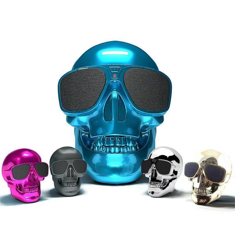 Portable Bluetooth Wireless Speaker Skull Stereo Speakers