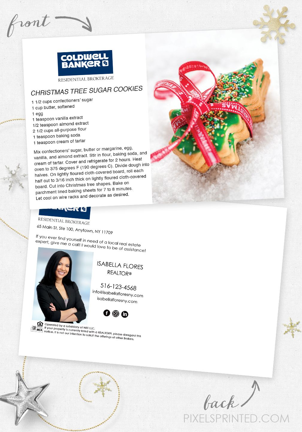 Coldwell Banker holiday recipe postcards in 2020 Card
