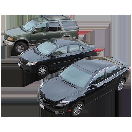 An Overhead View Of Three Cars In A Circular Parking Lot Car Parking Car Black Car