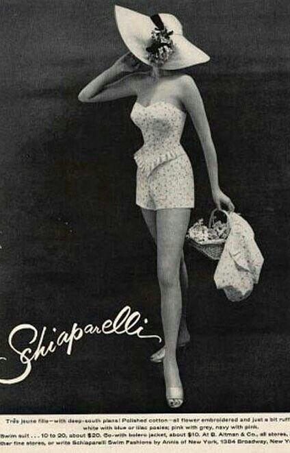 Swimsuit1950 Vintage Elsa 60 Schiaparelli Baño SUMpzVGq