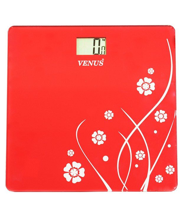 58fe4023b1 Venus Red Digital LCD Weighing Scale. This Digital Thick Glass Weighing  Scale measures weight both