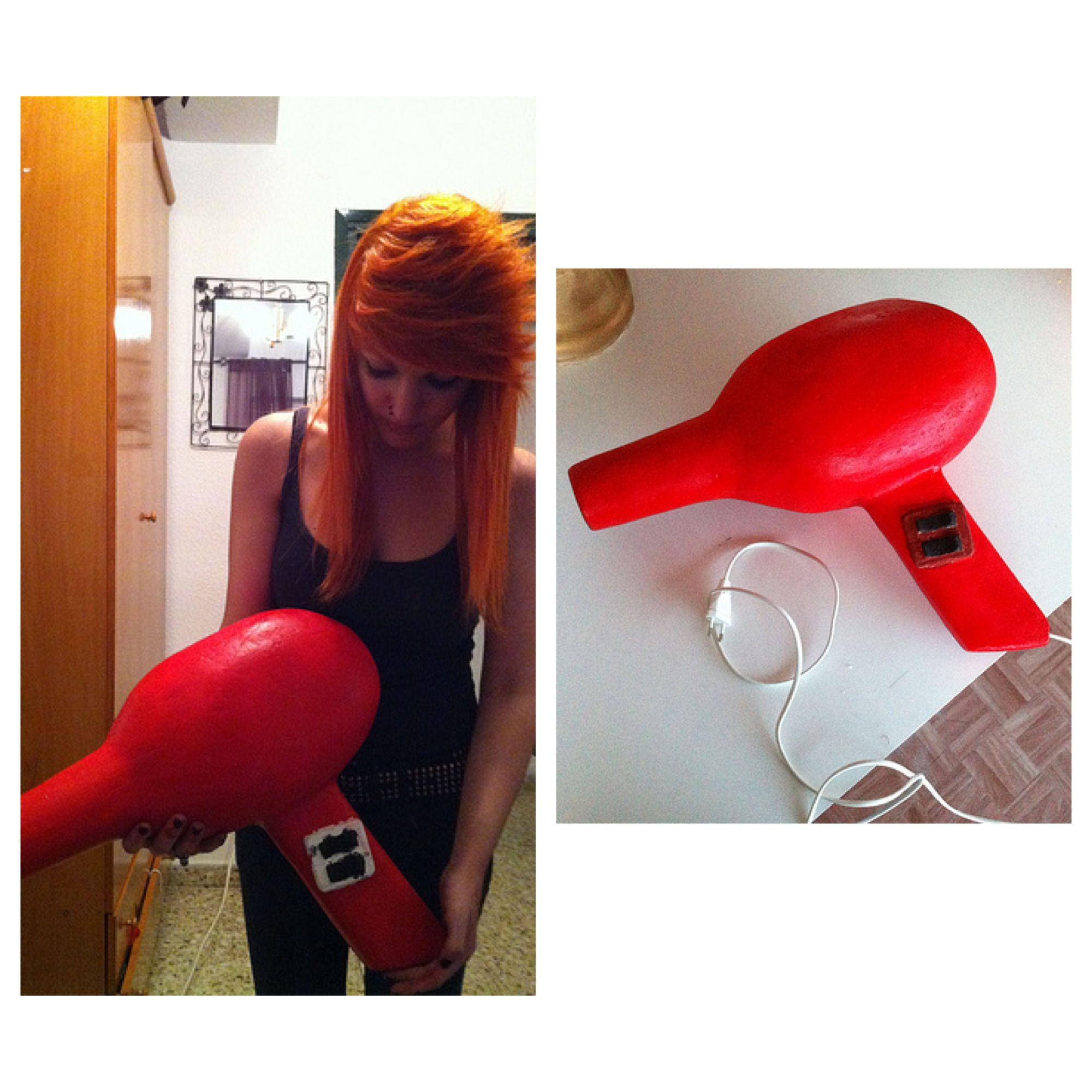 By me KorArt My Massive Hair Dryer Sculpture I made for my