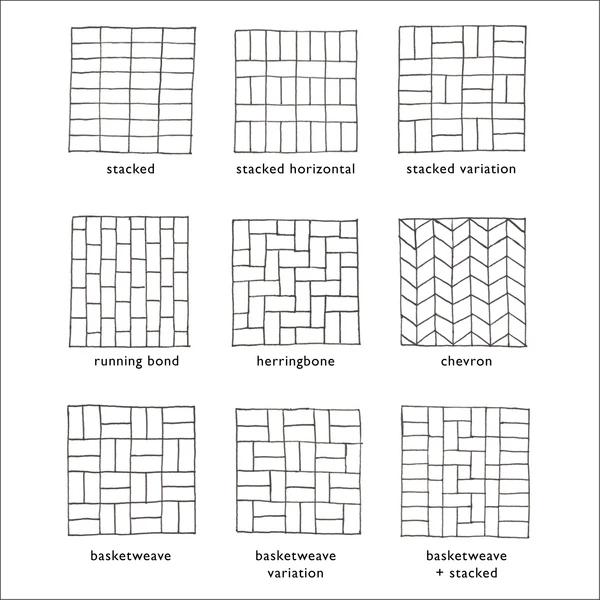 brick tile patterns to ponder subway