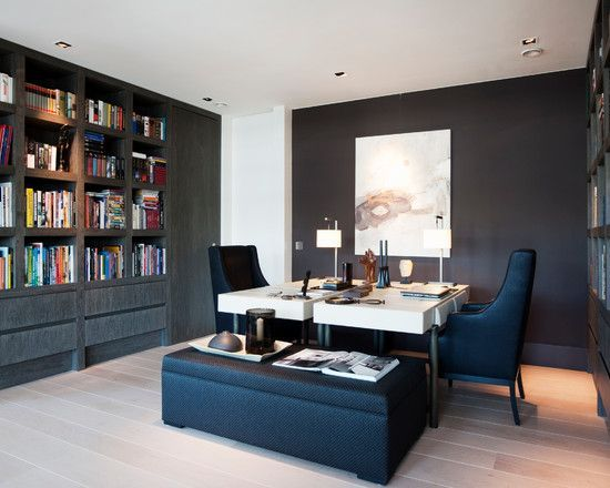 Home office with double desk decor and interior decorating ideas on pinterest two person also rh ar