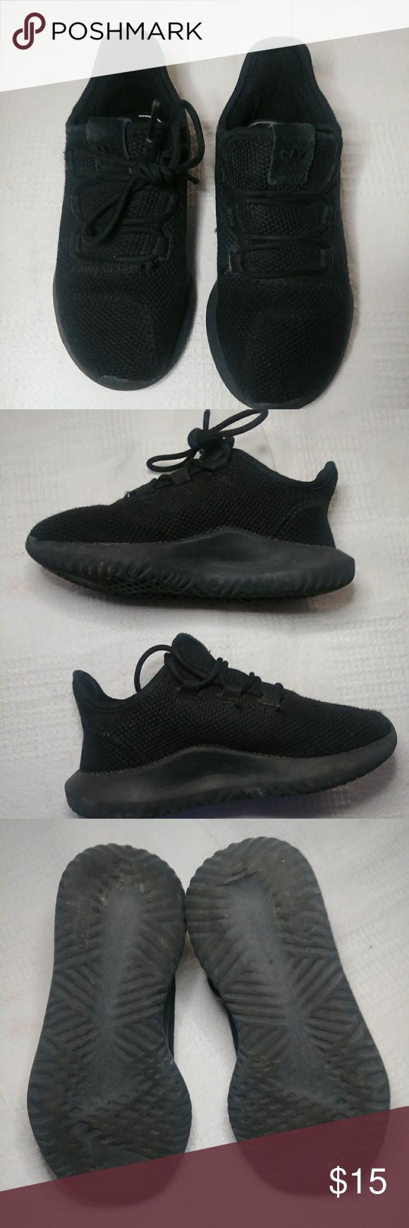 adidas black shoes kids