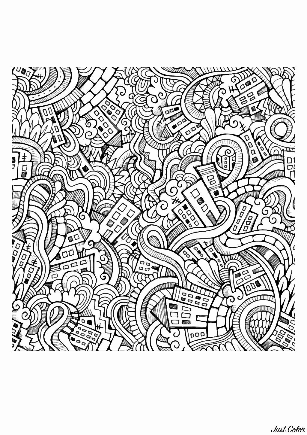 Nature Coloring Pages For Adults Pdf Best Of Awesome Random Pattern Coloring Pages Nocn Doodle Doodle Bunga Bunga