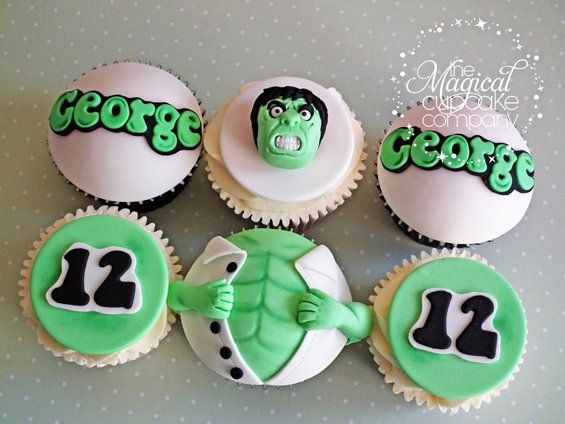 Save the day with these superhero cupcakes hulk cupcakes cake incredible hulk cupcakes pronofoot35fo Choice Image
