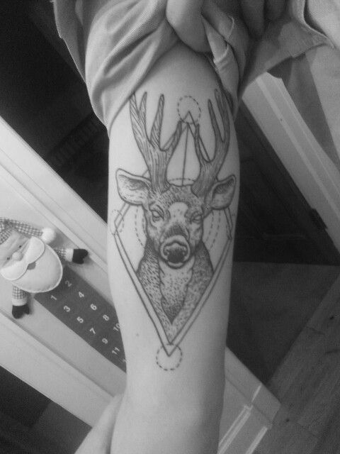 New awesome stag tattoo