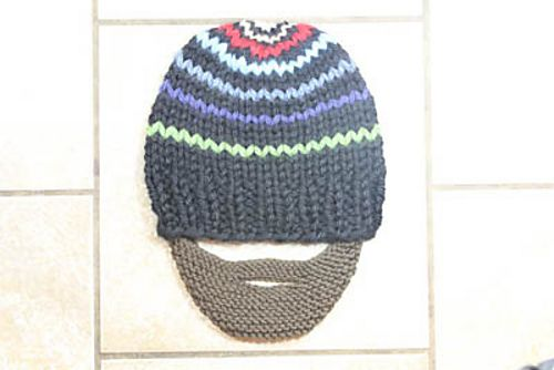 """Garter stitch beard pattern. This """"beard"""" is so easy to ..."""