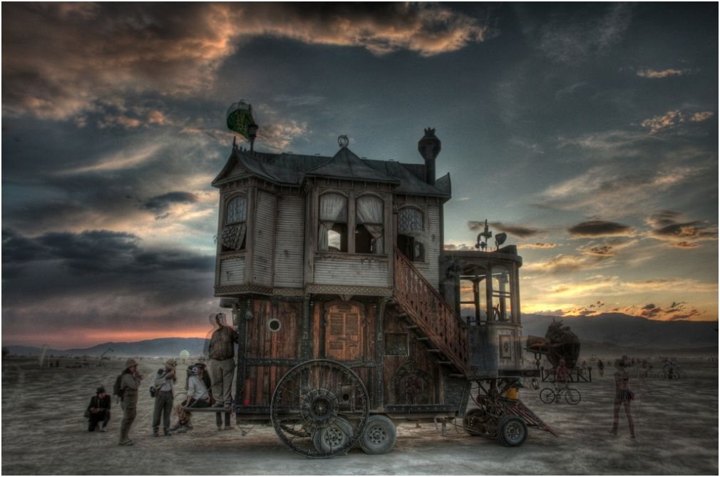 The Neverwas Haul A Steampunk Tiny House On Wheels ...