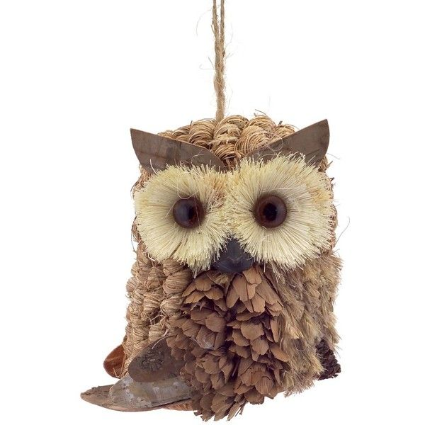 Melrose Gifts Owl Ornament (u20ac12) ❤ Liked On Polyvore Featuring Home, Home