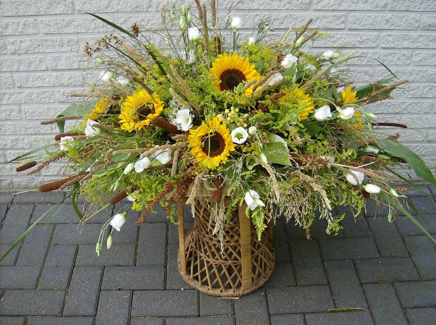 Greenery arrangements sunflower arrangement by