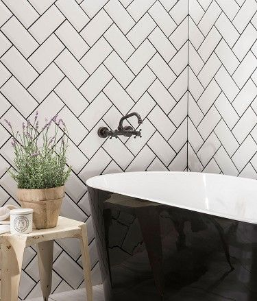 standard metro tiles but with black grout and of course