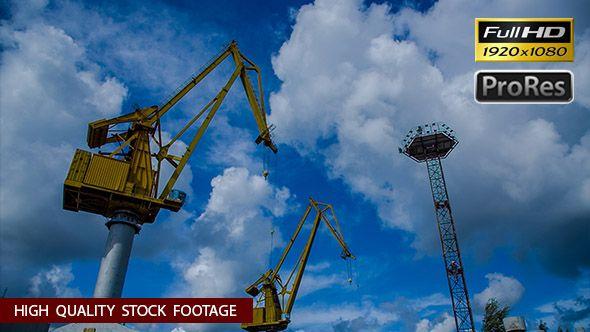 Sea Port and Cranes #Clouds, #Construction, #Crane, #Gipnozer, #HarbourCranes, #ManClimbs, #Port, #Sky, #Technology, #Tower, #Wind https://goo.gl/71ImkR
