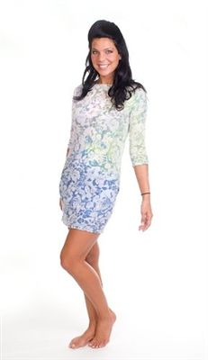 Hard Tail floral mini dress includes pockets.