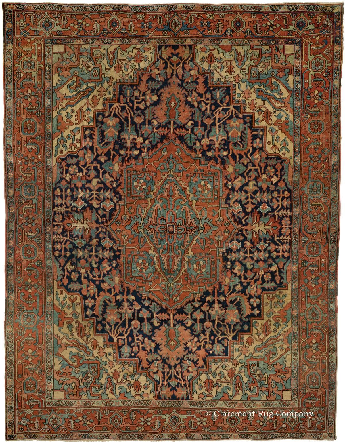 Heriz Northwest Persian 9ft 3in X 12ft 0in Circa 1910 Persian Rug Designs Antique Persian Carpet Claremont Rug Company