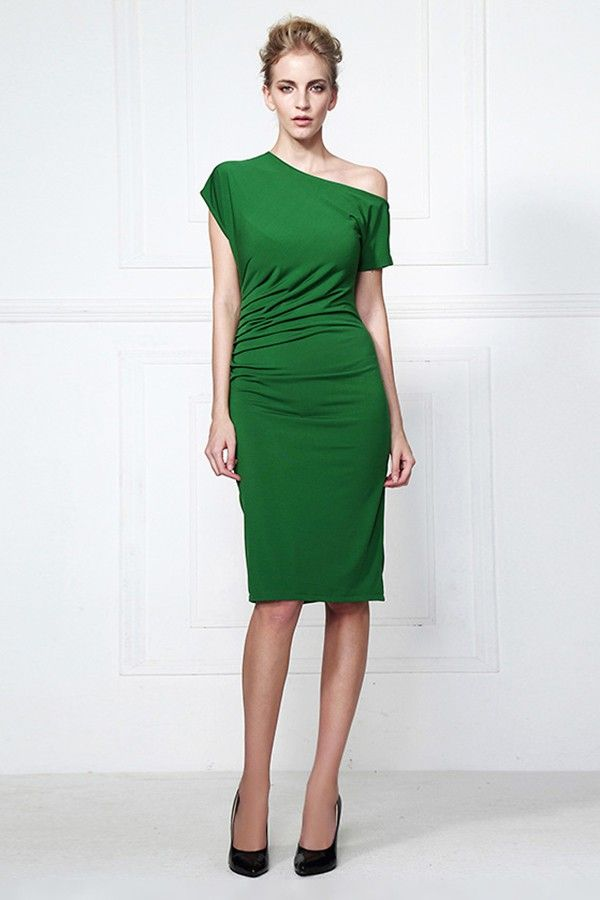 3801fcebc575 Knee Length Green Party Cocktail Dresses - TheCelebrityDresses