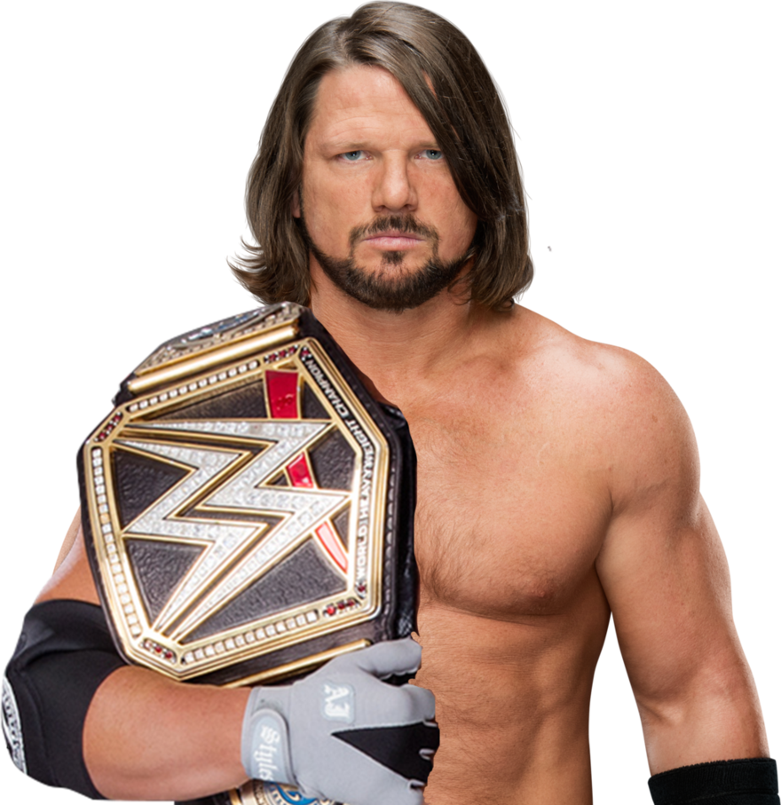 Custom Aj Styles Championship Render By Gencontrol By Gencontrol Deviantart Com On Deviantart Aj Styles Clothes Design Style